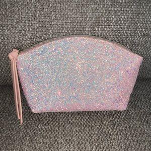 Sephora Pink glitter makeup bag